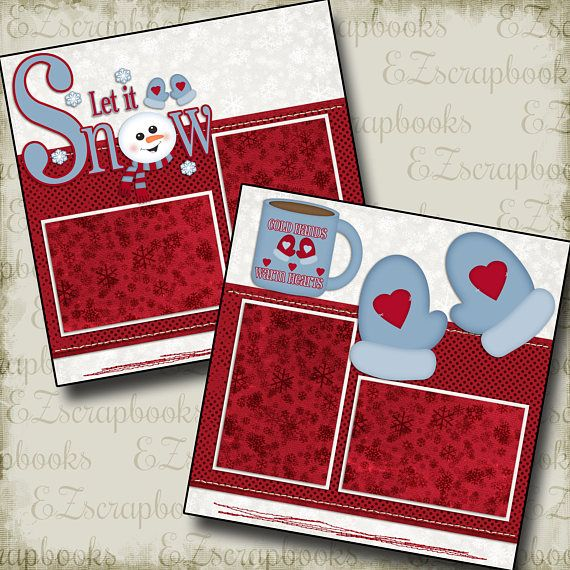 COLD HANDS Warm Heart 2 Premade Scrapbook Pages EZ Layout