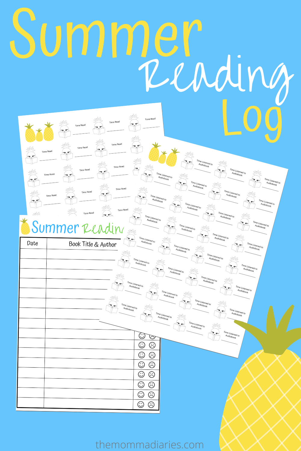 Printable Summer Reading Log for Kids The Momma Diaries