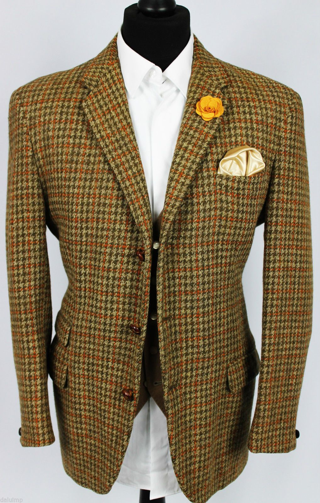 Harris Tweed Blazer Jacket Wedding Country 42S EXCEPTIONAL
