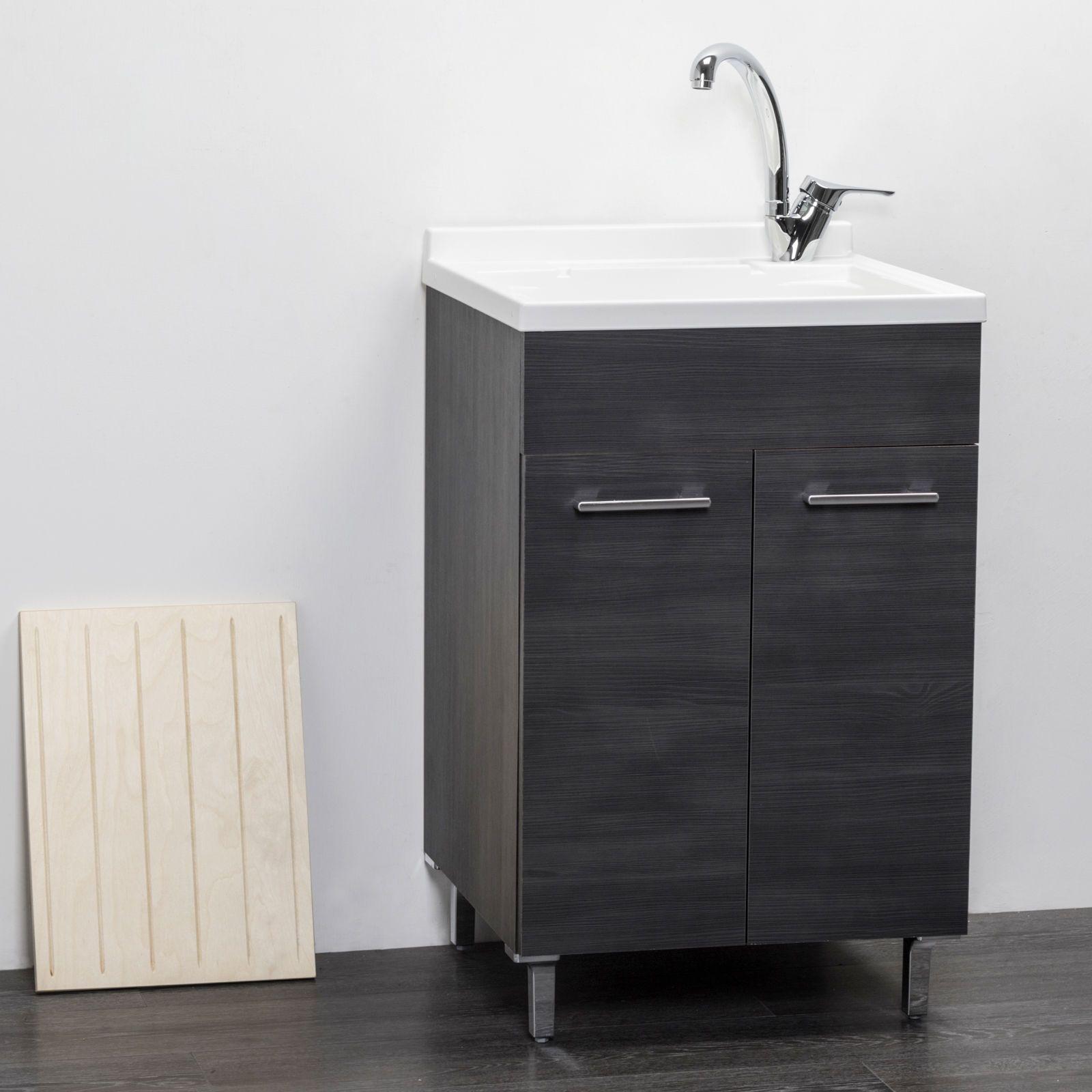 Mobile Lavatoio Per Interno 60x50 Rovere Scuro Bagno Ikea