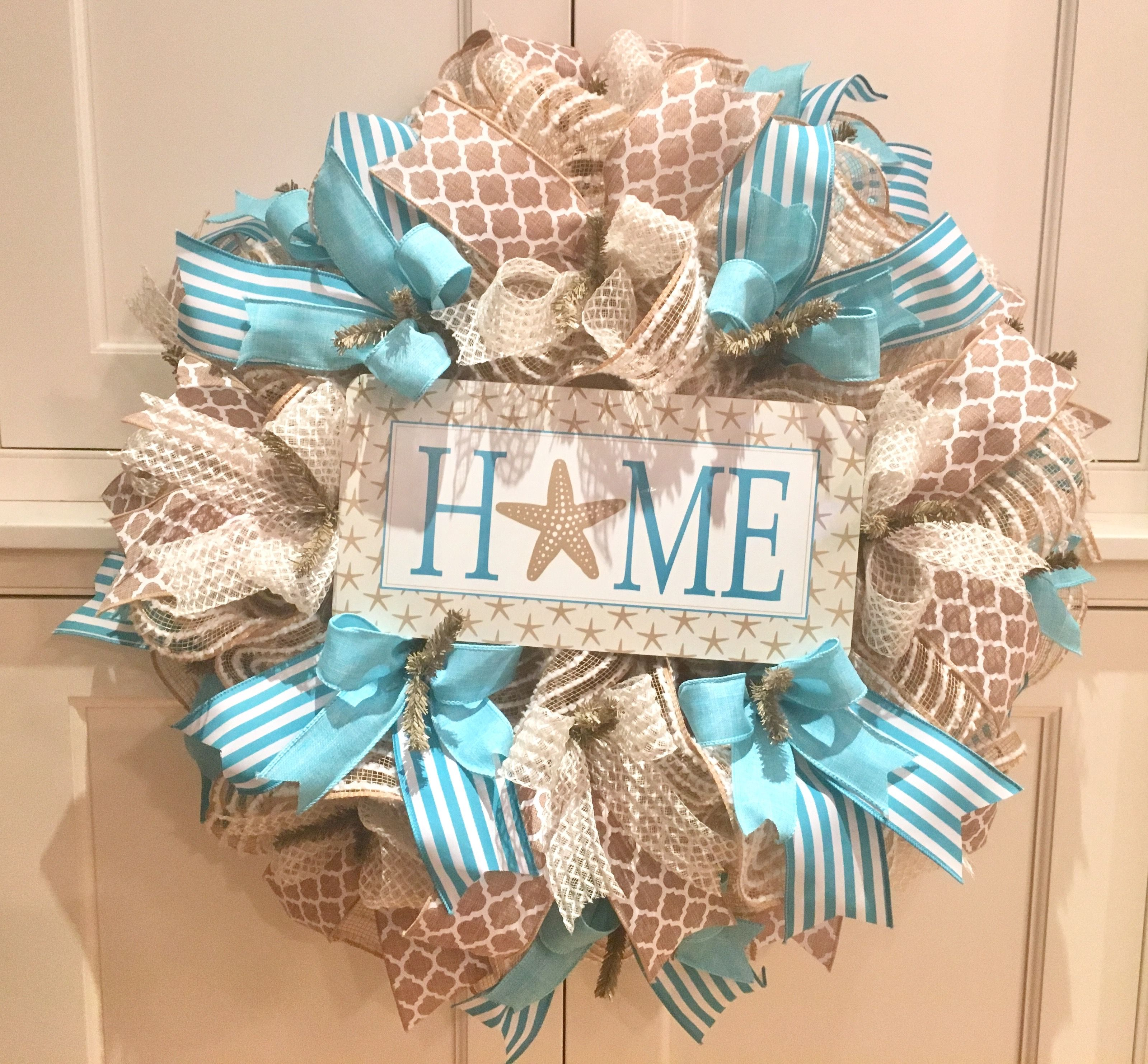 decor ip real decoration coastal seashells nautical all doors door wreath hanging wreaths beach