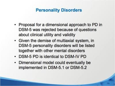 DSM-5 Personality Disorders | dsm5 | Personality disorder