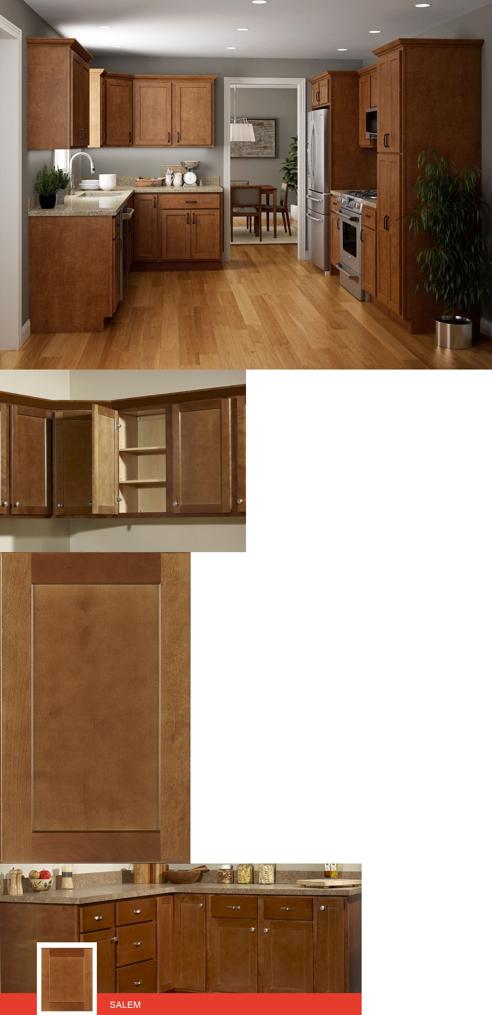 Cabinets Salem Brown Collection Jsi 10X10 Kitchen Cabinets