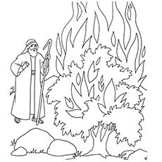 Moses Coloring Pages - Free Printables | Sunday school