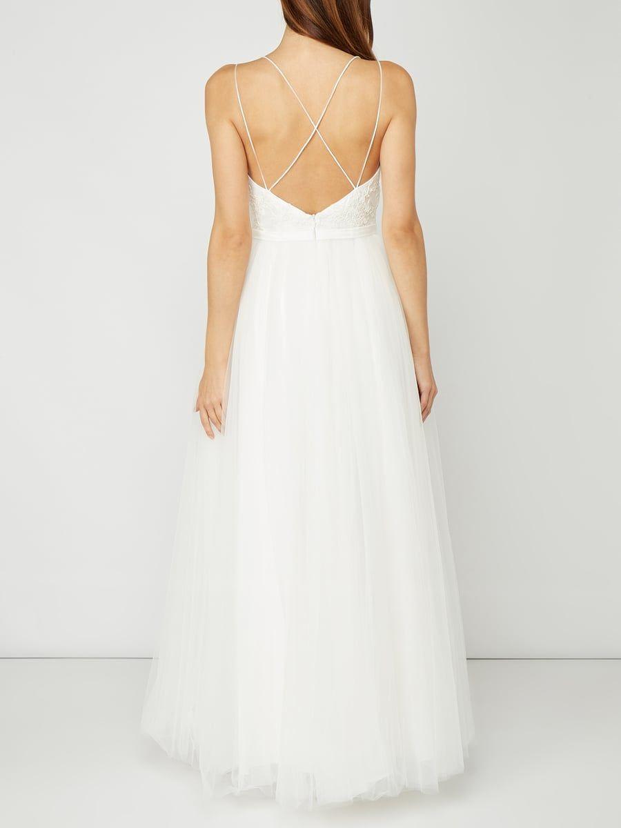 Rückansicht von Luxuar in Offwhite - 20  Kleider, Brautkleid, Braut