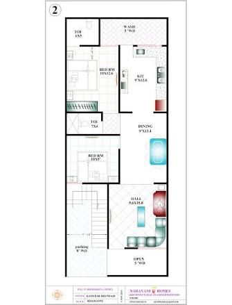 20 x 50 sq ft | Working plans in 2019 | 20x40 house plans ...