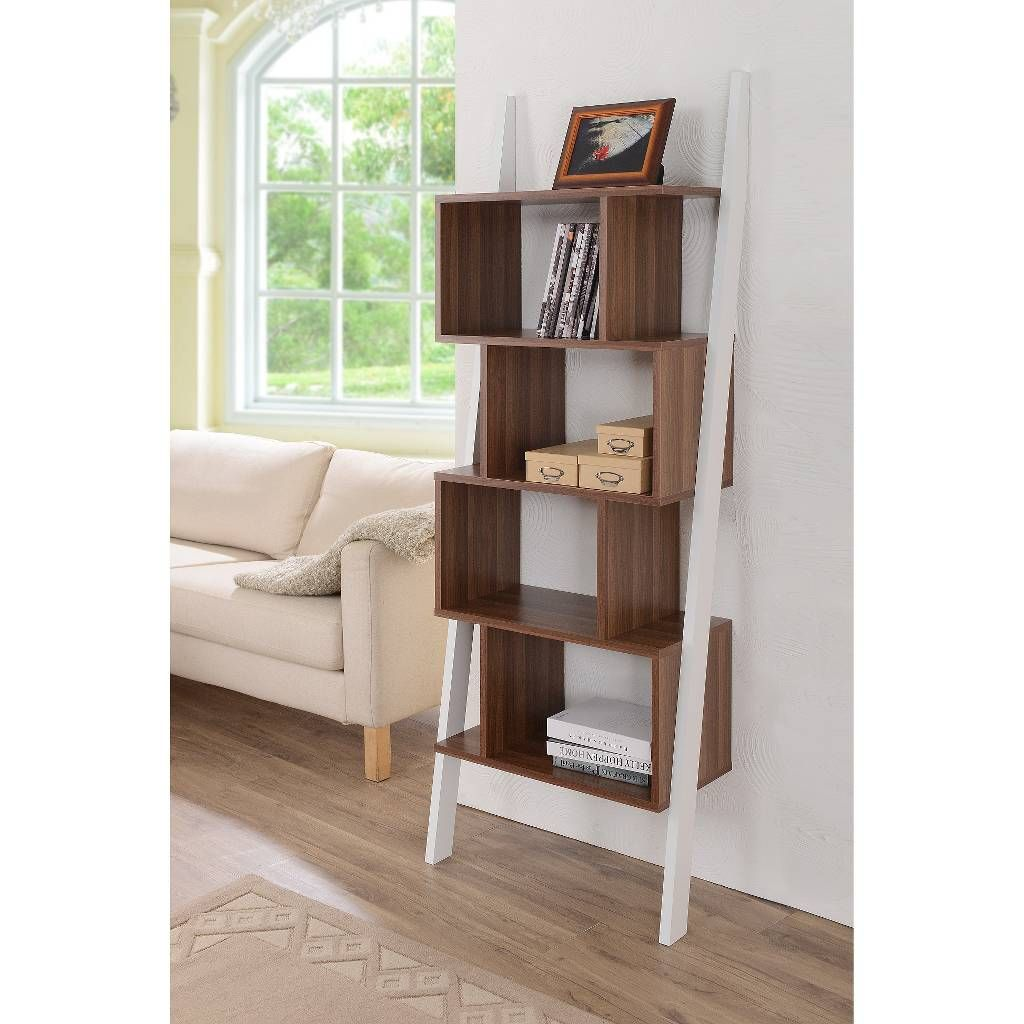 Ascencio Ladder Bookshelf and Display Case - Furniture of America. Image 4 of 4.
