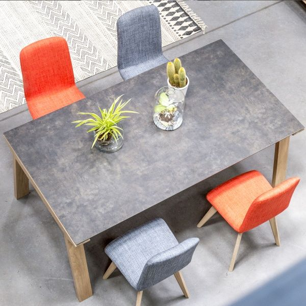 en rectangulaire salle céramique Table de manger à Cera Ac5RL34jq