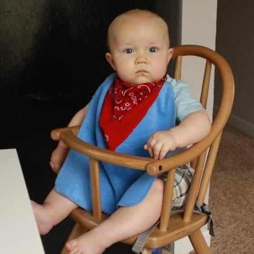 DIY Baby Bibs : DIY Cowboy Baby Bib