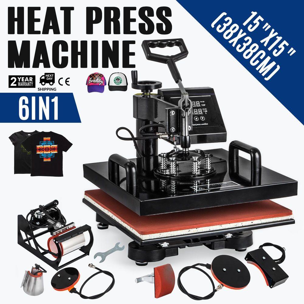 38x38cm 6in1 Hitzepresse Heipresse T Shirtpresse Hemd Gelber Griff Textildruck Heat Press Transfers Heat Press Clamshell