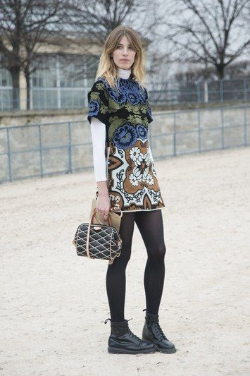 ankle booties printed dress turtleneck