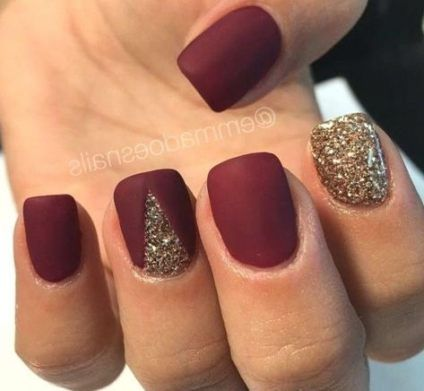 Nails Design Acrylic Matte Maroon 55 Ideas For 2019 Maroon Nails Matte Nails Design Red Matte Nails