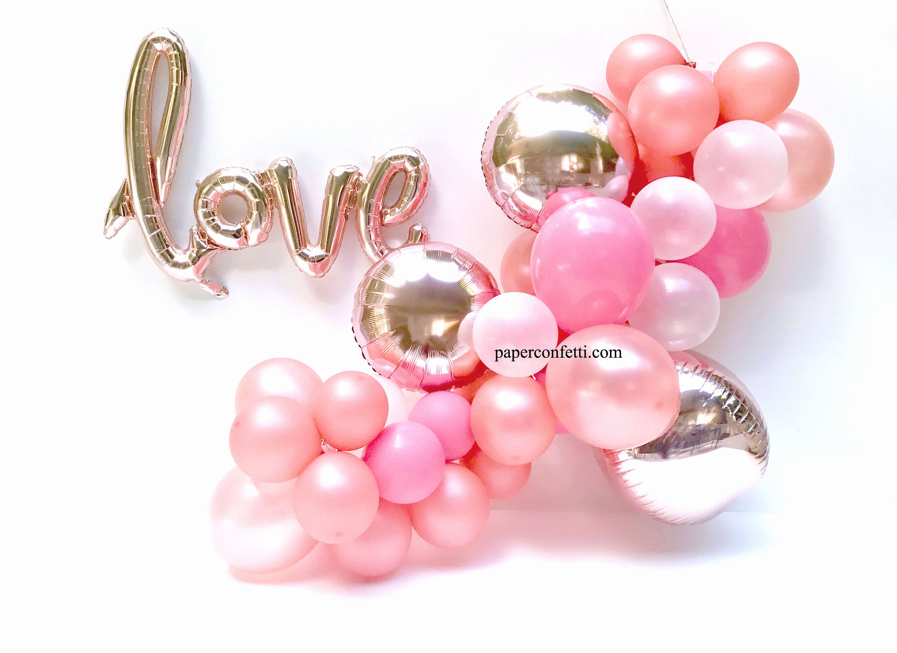 diy 44 piece set rose gold balloon engagement party decorations
