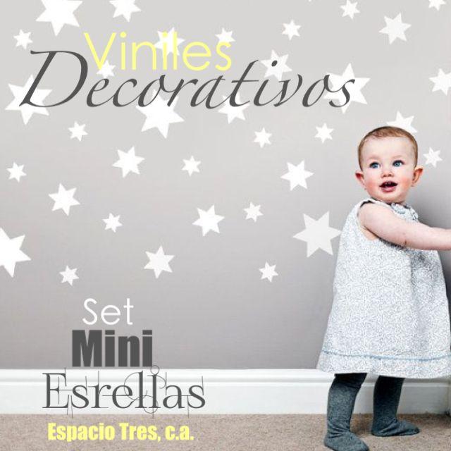 Hermoso set de Mini estrellas para las habitaciones de los más pequeños de la casa. Fácil de Instalar