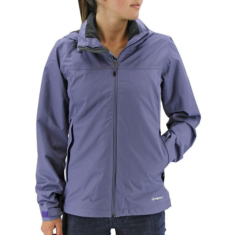 Women's Adidas Outdoor Prime Climaproof Hooded Rain Jacket, Size: Small,  Med Pink