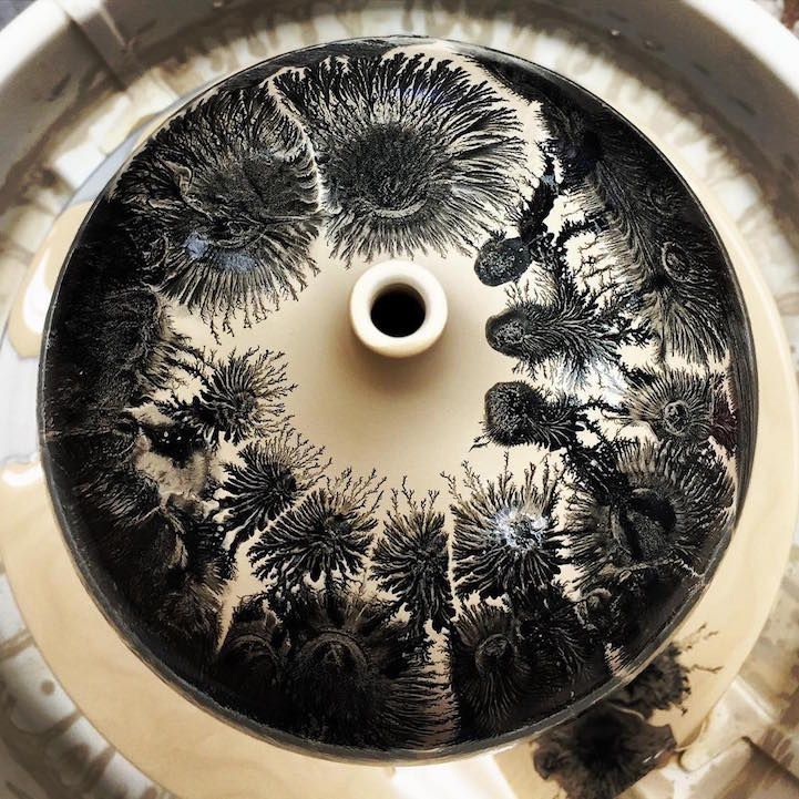 Mesmerizing Pottery Technique Suddenly Transforms a Drop of Liquid into a Blooming Tree — My Modern Met #potterytechniques