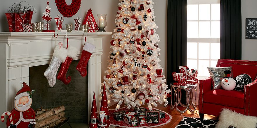 Red and Black holiday theme decor Natal Pinterest Holidays