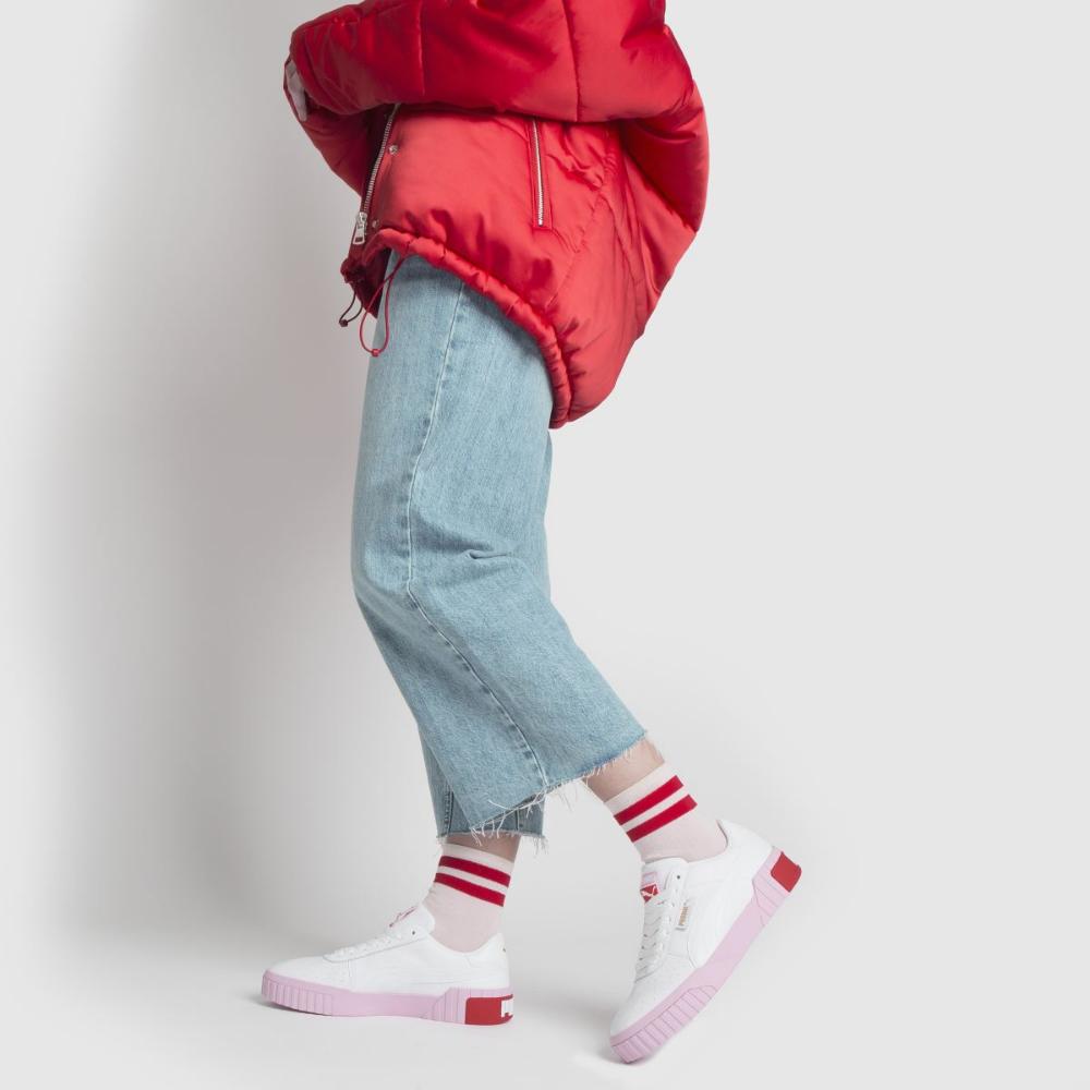 70 puma white \u0026 pink cali leather