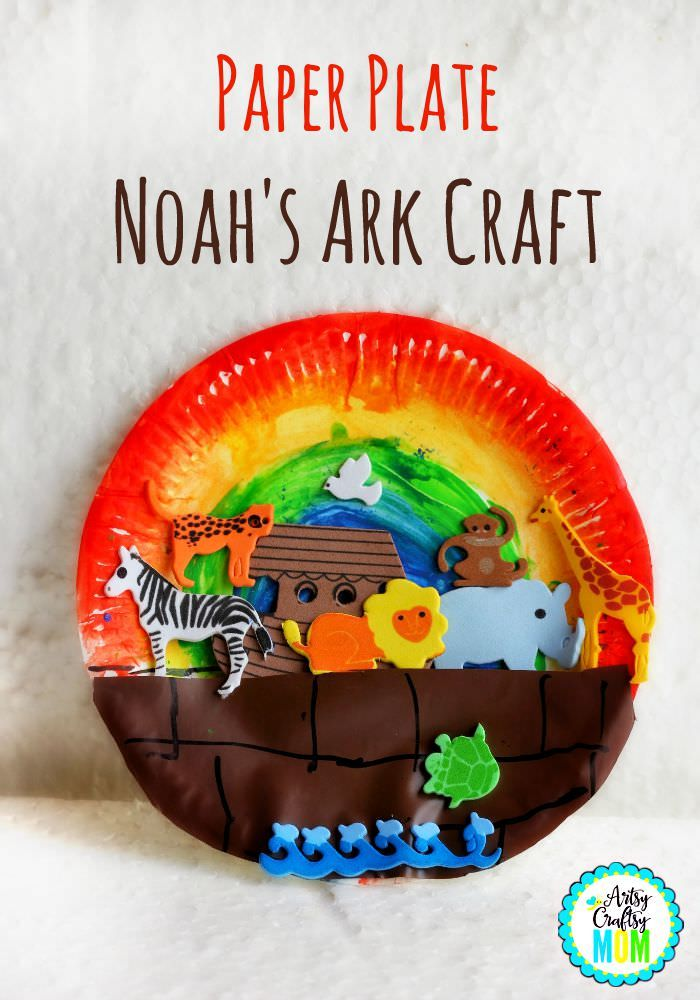 Paper Plate Noah S Ark Craft Bible Activities Kids Craft Stars