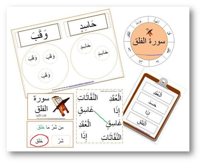 السلام عليكم ورحمة الله وبركاته This Is The Quraan Centre Word Work For Surah Al Falaq Pictured From R Activity Workbook Word Work Islamic Kids Activities