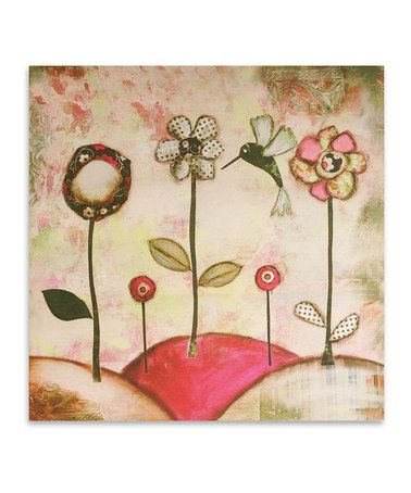 Take a look at this Hummingbird Canvas Art by Jay Import on #zulily today!