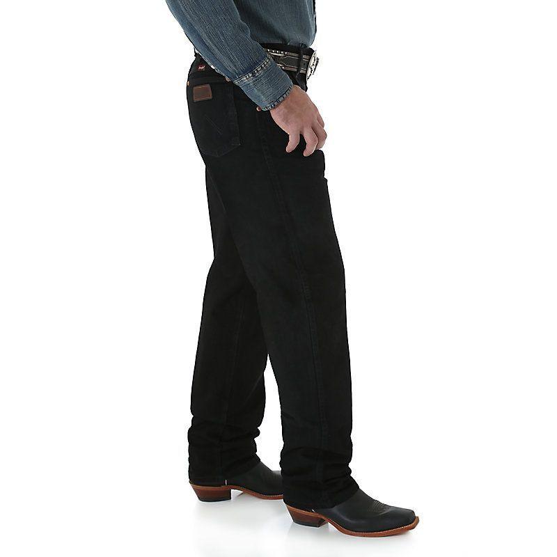 10942e0302 Wrangler Men s Cowboy Cut Relaxed Fit Jeans (Size  37 x 32) Black ...