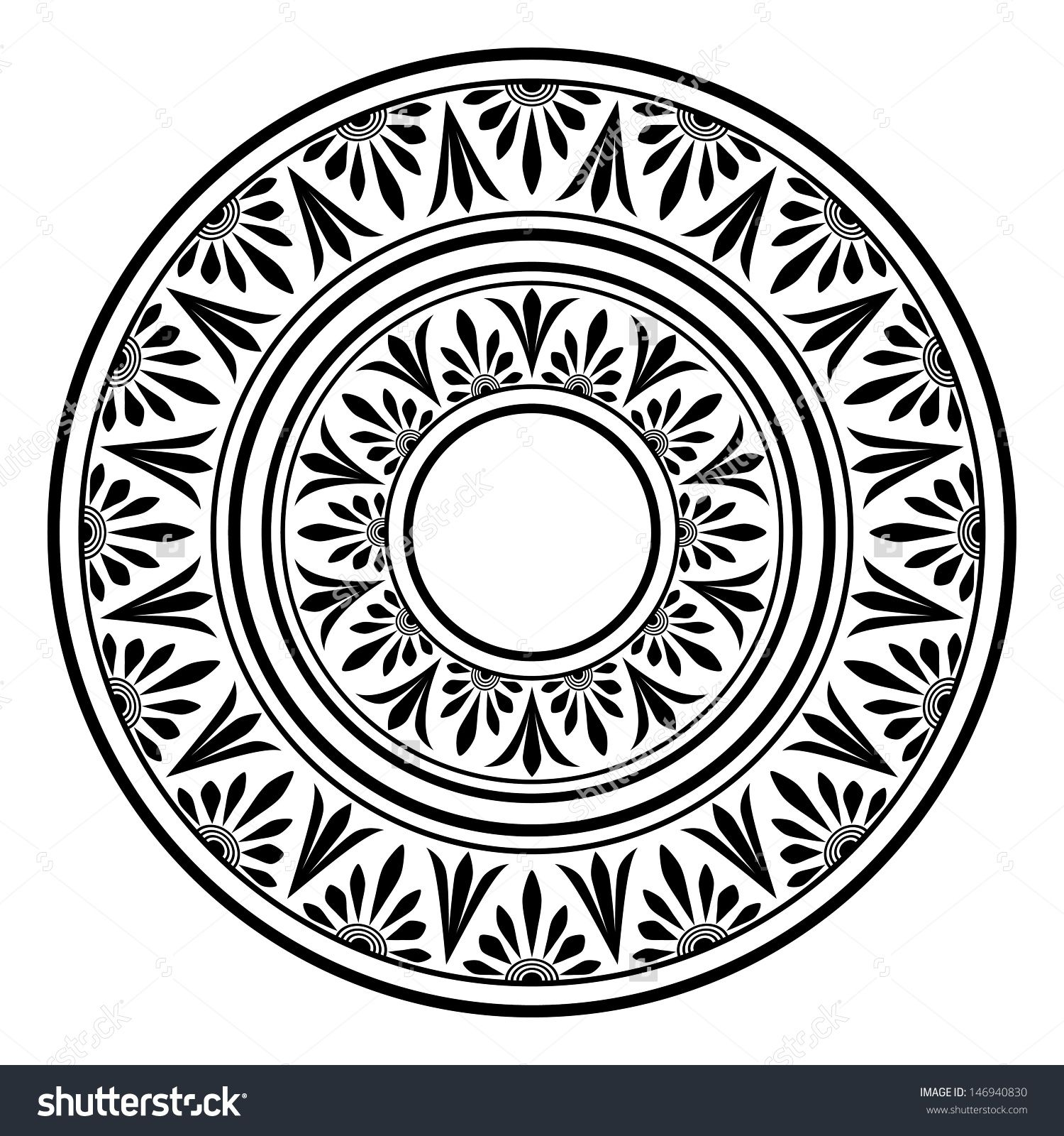Stock vector circle ornament round frame rosette of ancient stock vector circle ornament round frame rosette of biocorpaavc Image collections