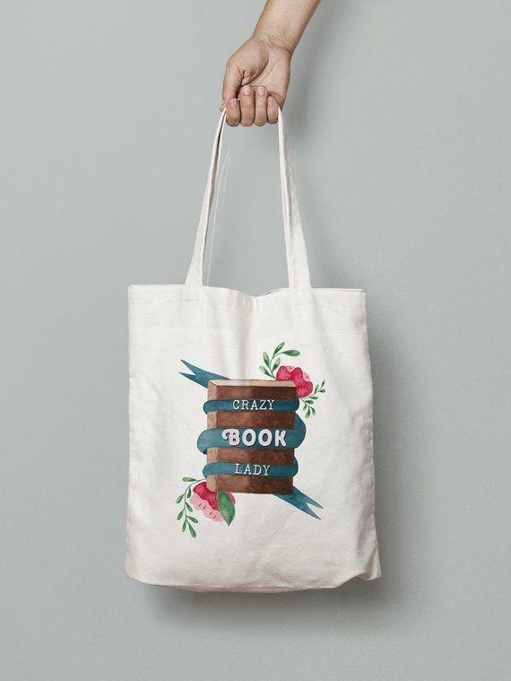 Christmas Gift Ideas For The Reader 2019 Natural Cotton Tote Bag, Reader Gift Idea, Book Lover Gift