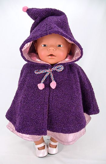 Babypuppen & Zubehör Regencape mit Zipfelkapuze,Hose,Mütze Schal passend für BABY BORN 43 cm Neu Kleidung & Accessoires