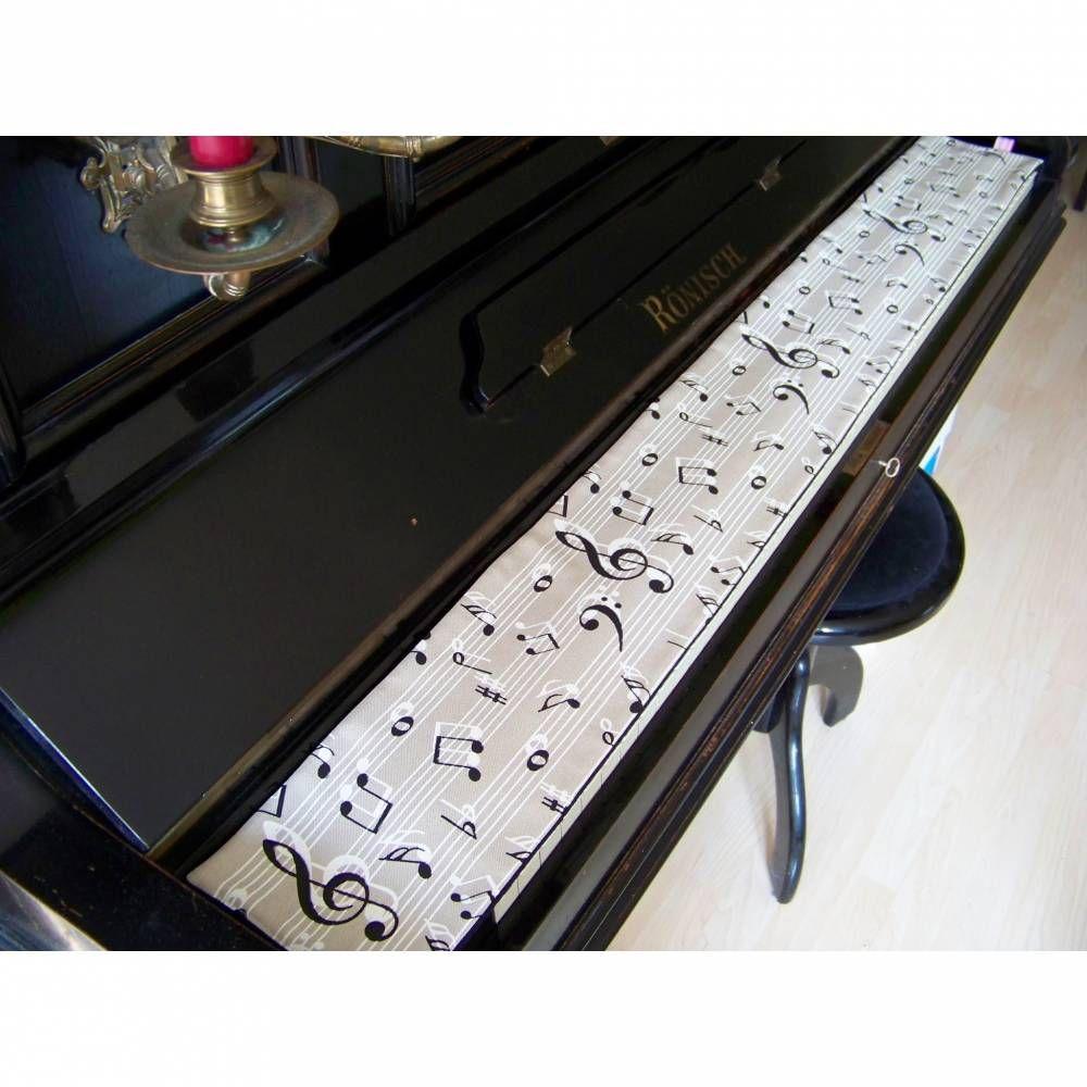 Tastenläufer für Klavier Keyboard Piano Amadeus beige Längenwahl x Breite 15,… – artistalista