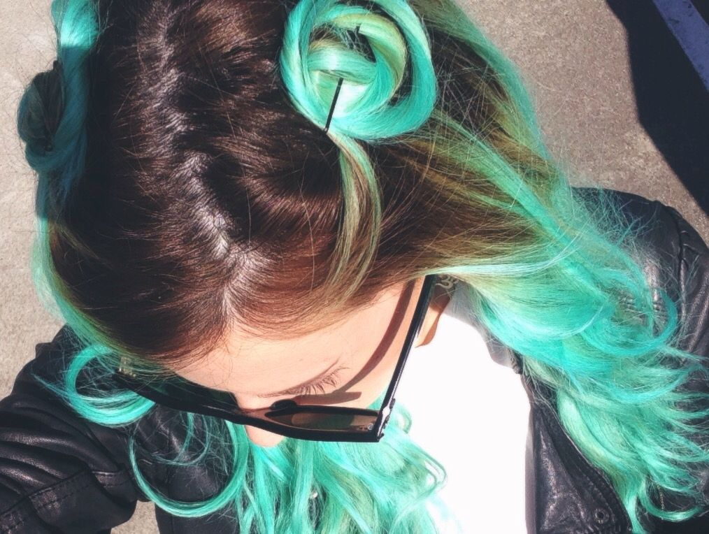 My Manic Panic Atomic Turquoise Mixed With Small Amount Of