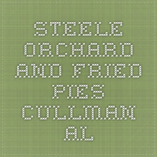 Steele Orchard - and fried pies- Cullman AL | Absolutely Alabama and ...