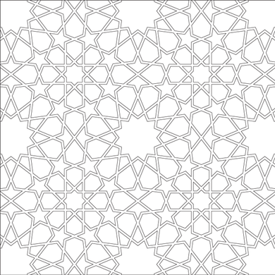 The Design Is A Dodecagon Octogon Pattern With Joining Pieces