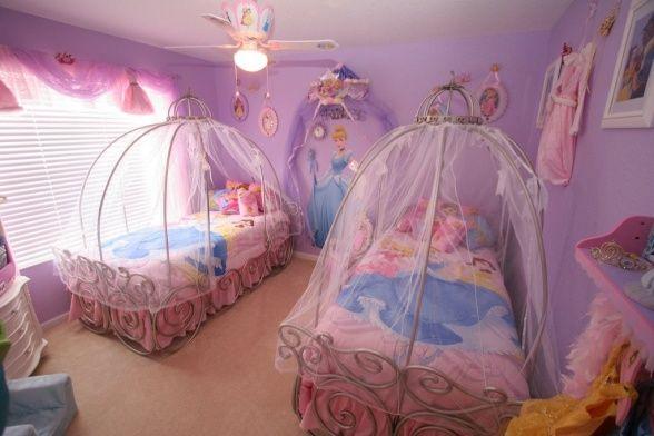 20 Cute Purple And Pink Bedrooms For Girls Fun Bedroom Ideas Princess Bedroom Decor Disney Princess Bedroom Decor Princess Toddler Bed
