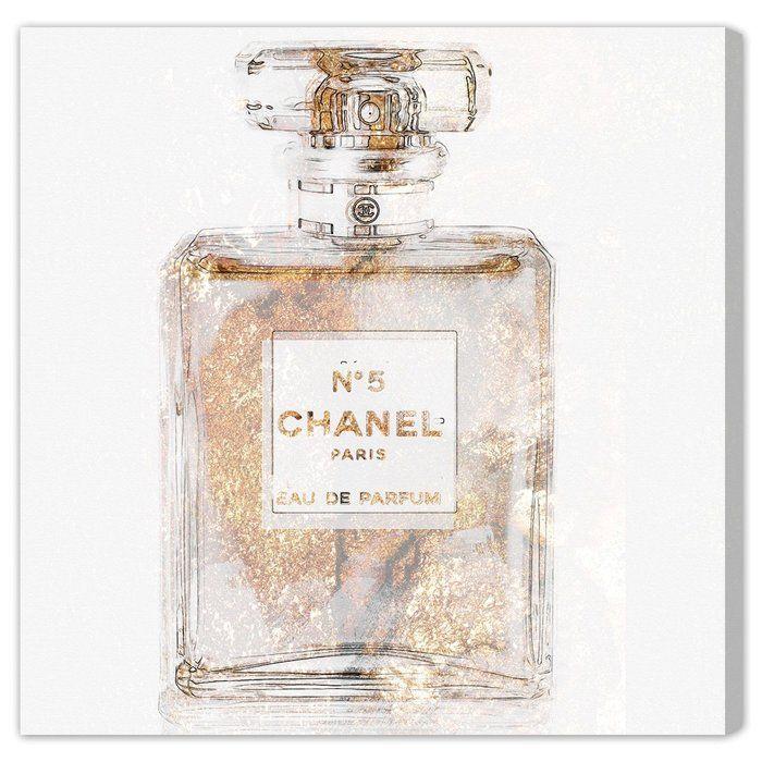 Basenote Is Champagne Fashion Art Wrapped Canvas Print Glam Wall Art Fashion Wall Art Chanel Art