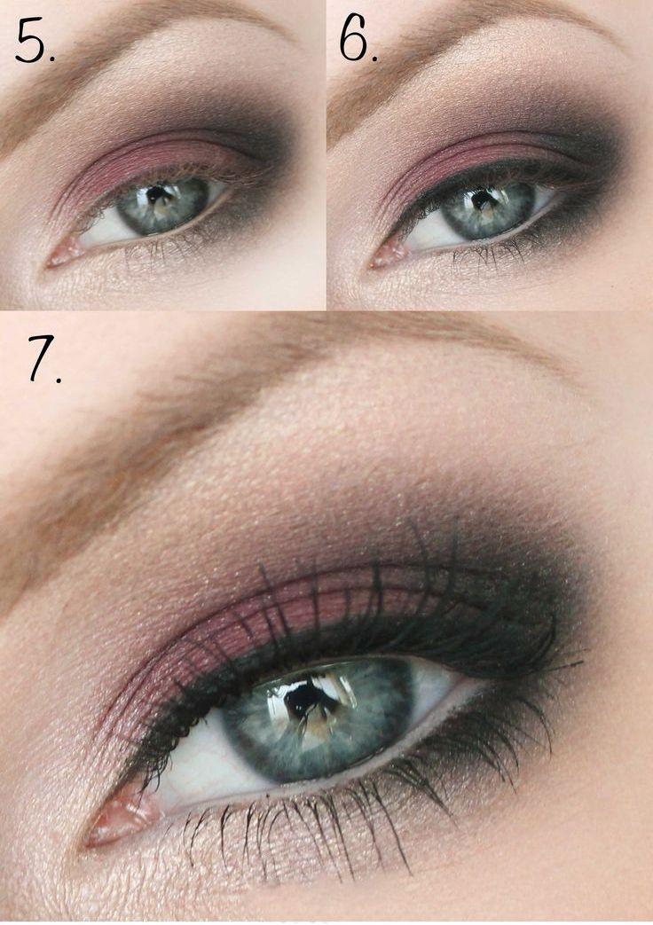 Вечерний макияж для серых глаз (50 фото) — Пошаговое ...