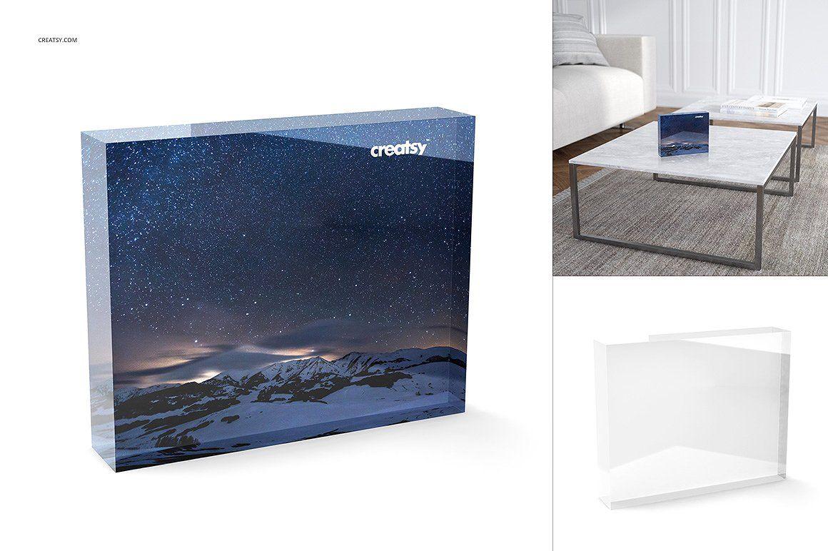 Download Acrylic Freestanding Tile Mockup Set Graphic Design Studios Creative Market Infographic Design