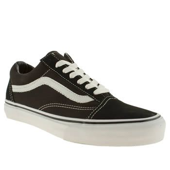 An absolute classic lands at schuh for those who appreciate great skate  style. The Vans Old Skool is a sharp design made with a black fabric and  faux suede ...