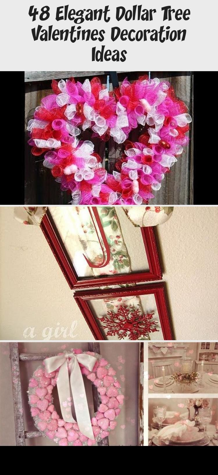 48 Elegant Dollar Tree Valentines Decoration Ideas