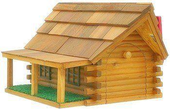 Amazon.com : Cedar Log Cabin Mailbox With Porch : Security Mailboxes :  Patio, Lawn U0026 Garden