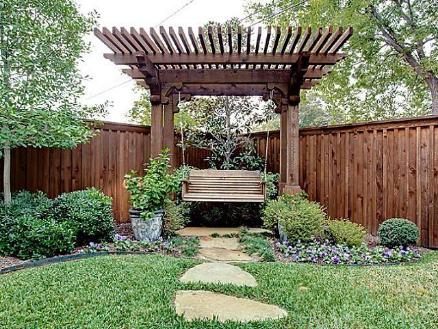 pergola with swing backyard