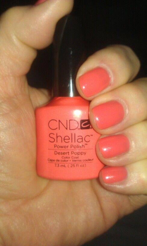 Cnd Shellac Power Polish Desert Poppy Shellac Nail Colors Cnd