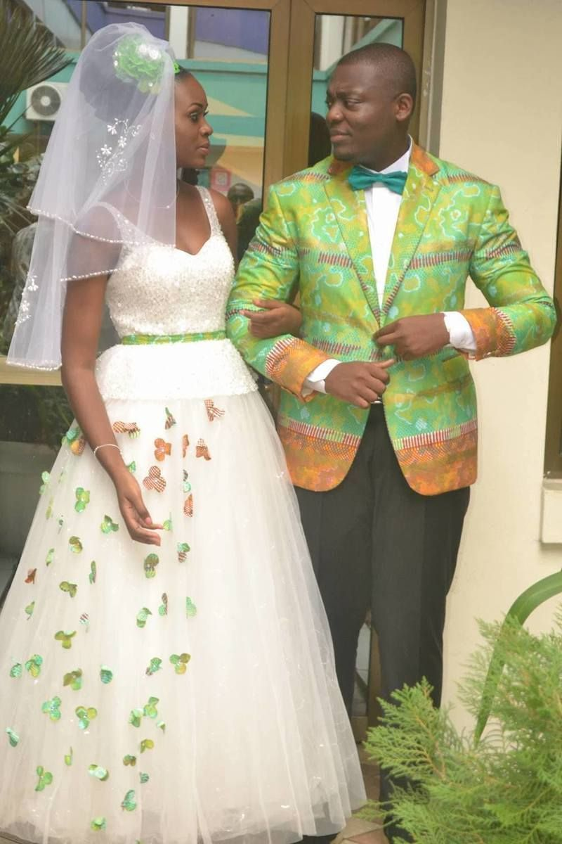 20 robes de mariée en pagne wax et tulle
