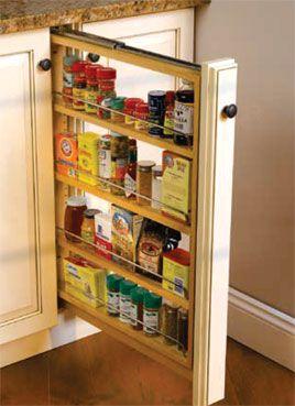 Narrow Spice Rack Kitchen Cabinet Organization Layout Kitchen Upgrades Kitchen Appliance Storage