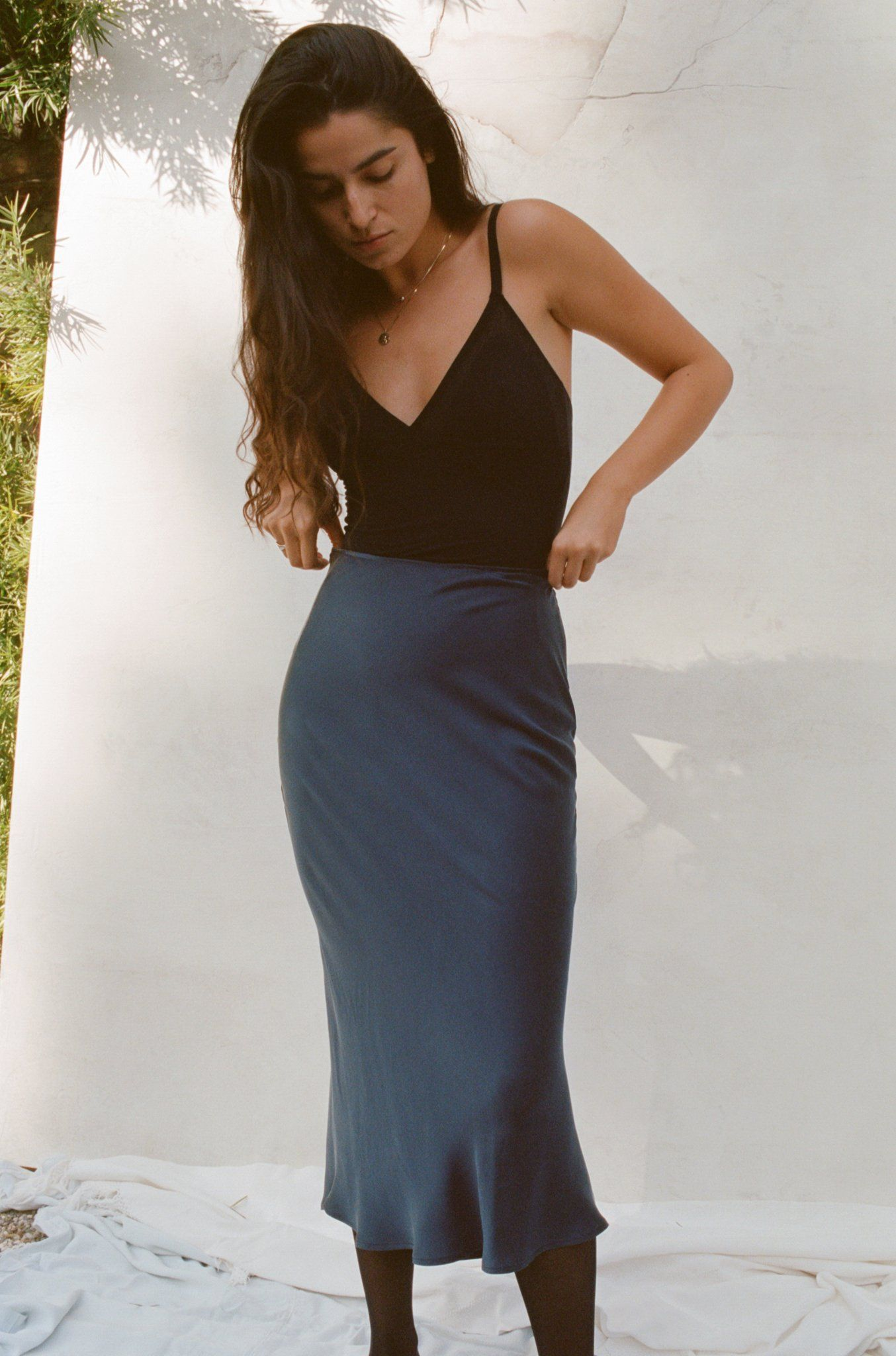 0679aa67418 A skirt version of our best-selling Gia Slip Dress – effortlessly chic