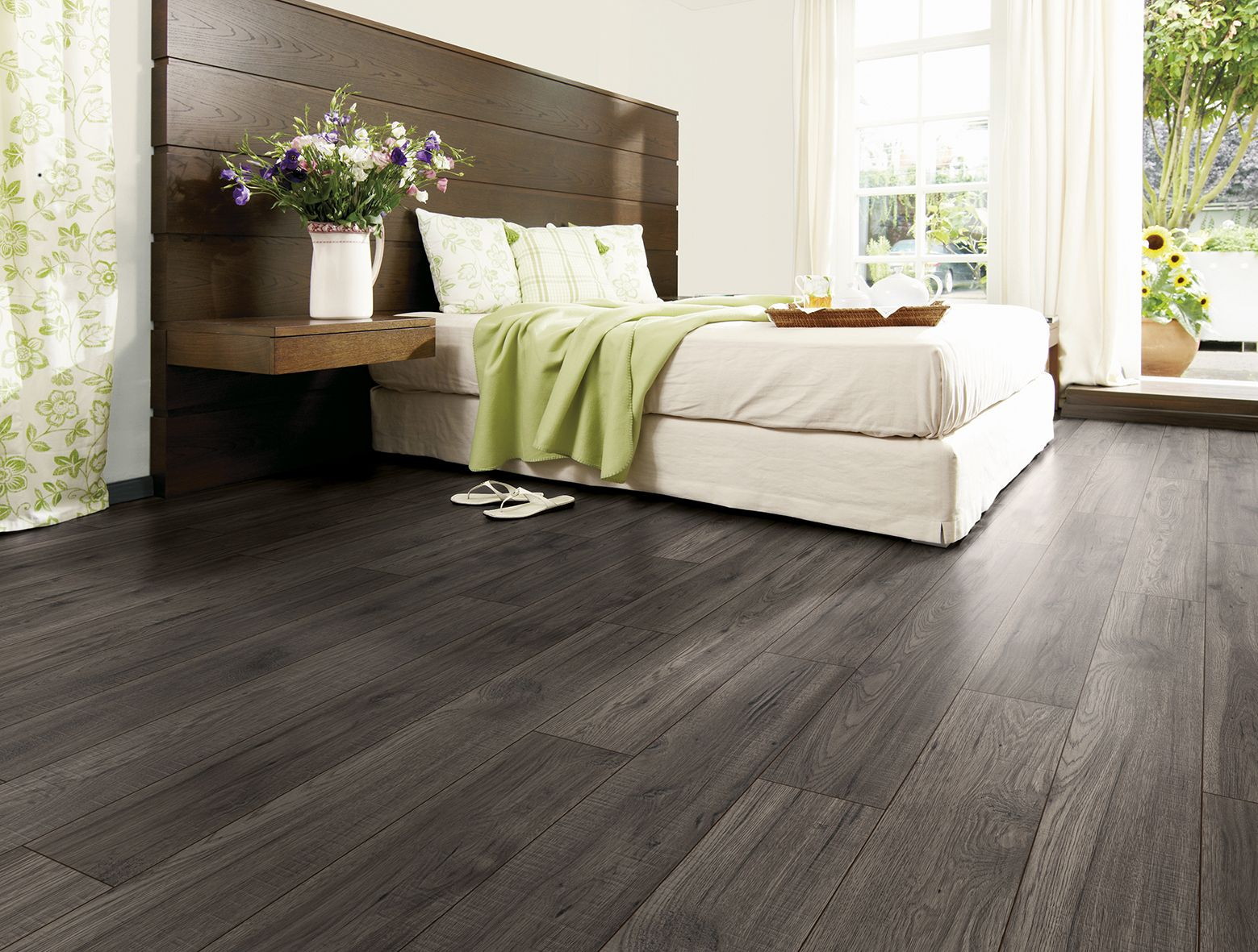 The look and feel of timber flooring but with more durability