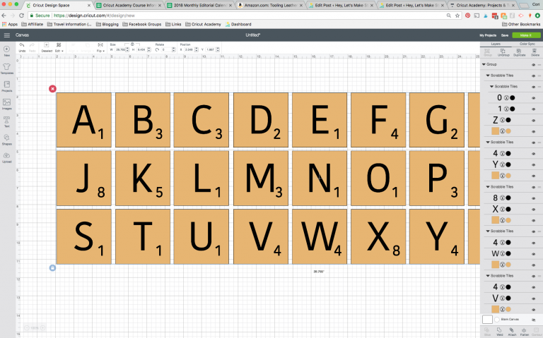 Scrabble Words with Your Cricut Includes Free SVG