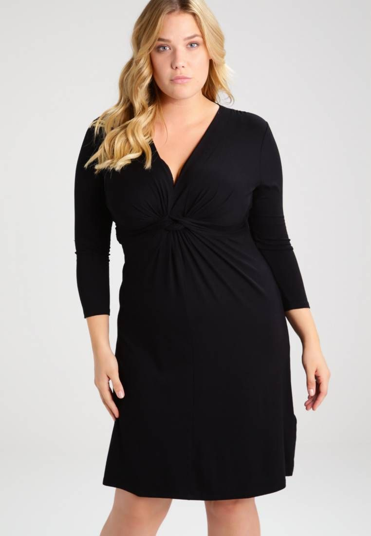 anna field curvy. jerseykleid - black. modelgröße:unser