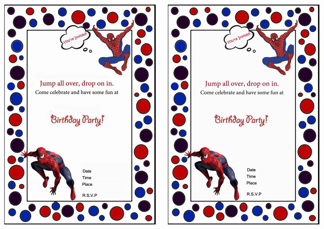 Spiderman Birthday Invitations | Things I Made | Pinterest ...