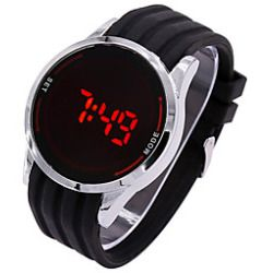 0ac0e79f4e7 Silicone Led Touch Screen Watch Digital Men Women Waterproof Watch Male  Clock Mens Wristwatch Relogio masculino